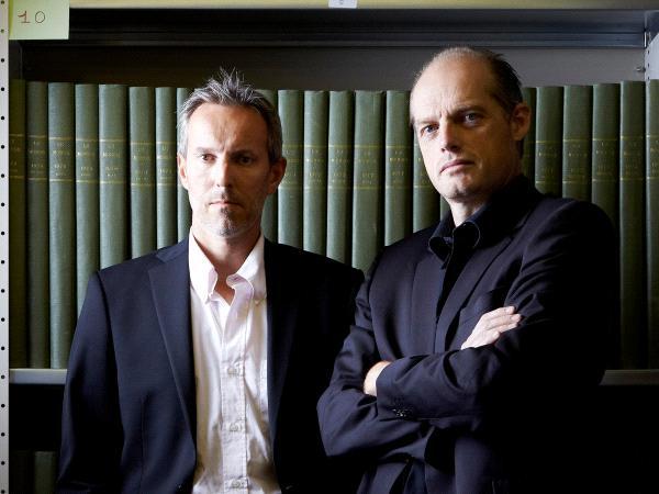 Gérard Davet et Fabrice Lhomme © Julien Falsimagne