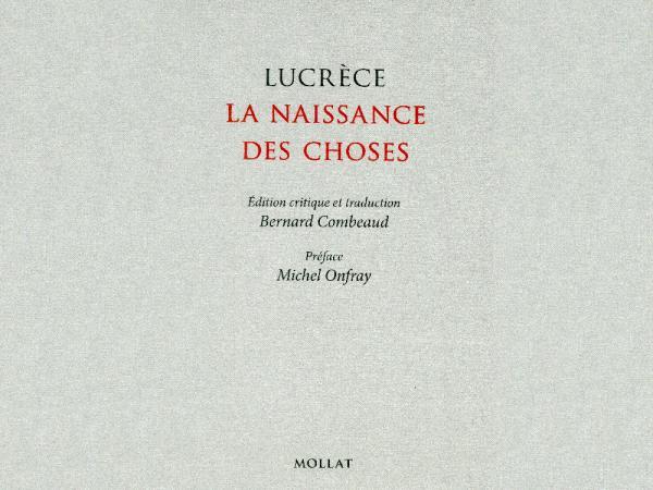 Prix Jules Janin 2016 - Lucrèce intitulée La naissance des choses (Ed. Mollat)
