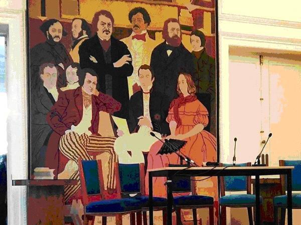 Une des salles de conférence de la Société des Gens de Lettres où ont lieu des présentations d'éditeur