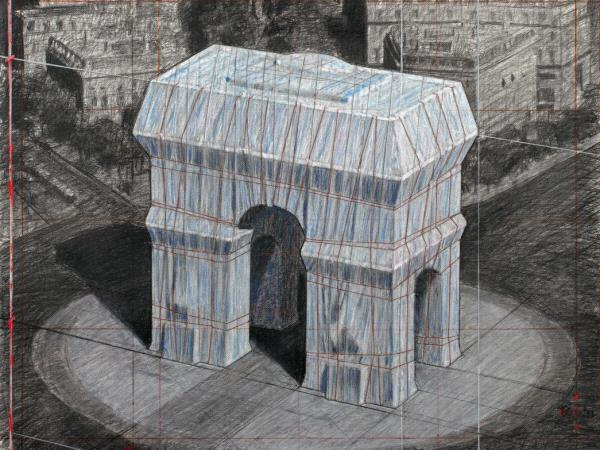 Arc en triomphe, Wrapped, Christo et Jeanne-Claude.jpg