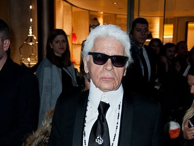 Karl Lagerfeld (photo : Christophe William Adach)