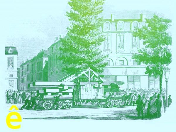 D'après une gravure représentant le transport d'un magnolia au Jardin public de Bordeaux, 1857 © arc en rêve.jpg