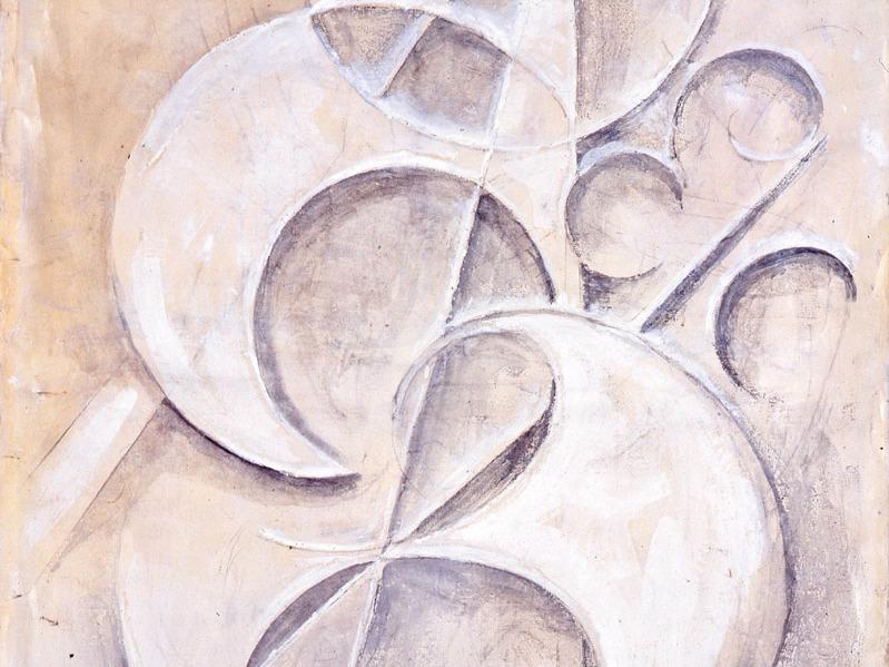 Henri Hamm - Composition, 1953, huile sur toile, musée des Beaux-Arts de Bordeaux.JPG