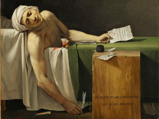 Jacques-Louis David (atelier de) La mort de Marat 1793, Copyright RMN Grand Palais. Photo Martine Beck Coppola .jpg