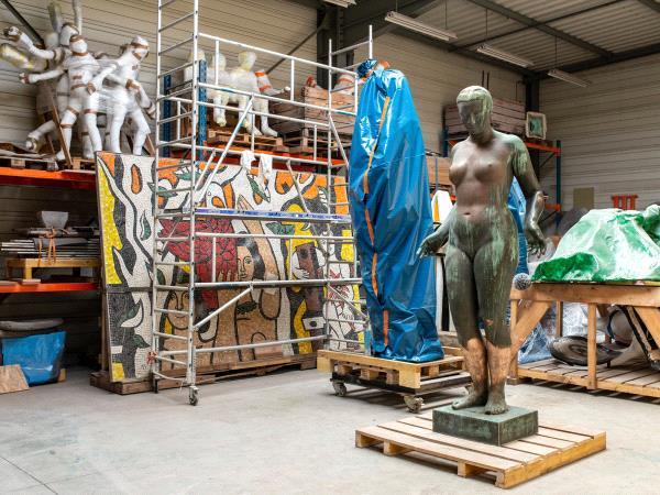 Musée des Beaux-arts de Bordeaux - Première phase de la restauration de Figure de femme de Marcel Damboise ©F. Deval.jpg