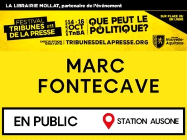 Tribunes de la Presse Marc Fontecave