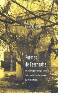 Poèmes de Czernovitz : douze poètes juifs de langue allemande