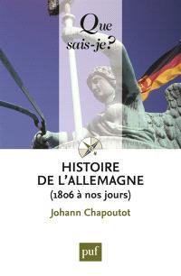 Histoire de l'Allemagne : de 1806 à nos jours