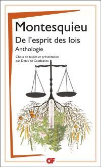De l'esprit des lois : anthologie