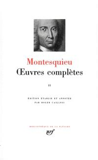 Oeuvres complètes. Volume 2