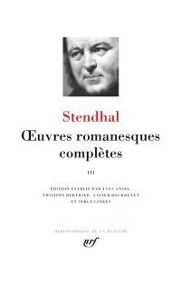 Oeuvres romanesques complètes. Volume 3