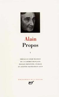 Propos : 1906-1936. Volume 1