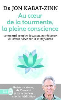 Au coeur de la tourmente, la pleine conscience : MBSR, la réduction du stress basée sur la mindfulness : programme complet en 8 semaines