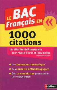 Le bac français en 1.000 citations
