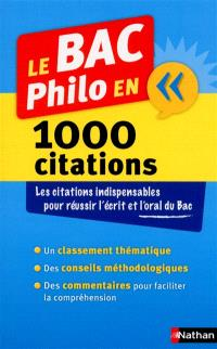 Le bac philo en 1.000 citations