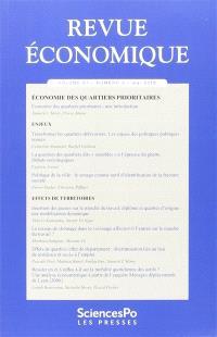 Revue économique. n° 67-3, Economie des quartiers prioritaires