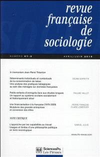 Revue française de sociologie. n° 57-2