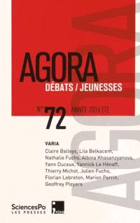Agora débats jeunesse. n° 72