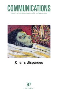 Communications. n° 97, Chairs disparues