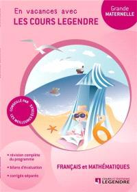 Cahier de vacances, grande maternelle