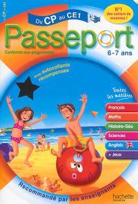 Passeport du CP au CE1, 6-7 ans : avec autocollants récompenses