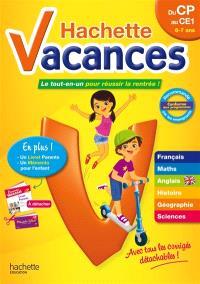 Hachette vacances, du CP au CE1, 6-7 ans : le tout-en-un pour réussir la rentrée !