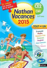 Nathan vacances 2015, du CE2 au CM1, 8-9 ans : tout en un
