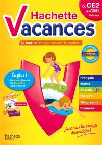 Hachette vacances, du CE2 au CM1, 8-9 ans : le tout-en-un pour réussir la rentrée !