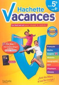 Hachette vacances, de la 5e à la 4e : le tout-en-un pour réussir la rentrée !