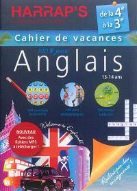 Anglais 100 % jeux : cahier de vacances : de la 4e à la 3e, 13-14 ans