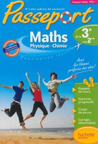 Passeport maths, physique chimie, de la 3e vers la 2de