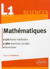 Mathématiques, L1 sciences semestres 1 et 2