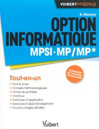 Option informatique MPSI, MP-MP* : tout-en-un