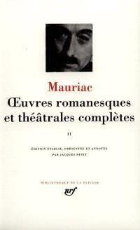 Oeuvres romanesques et théâtrales complètes. Volume 2