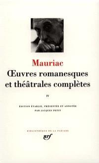 Oeuvres romanesques et théâtrales complètes. Volume 4
