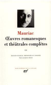 Oeuvres romanesques et théâtrales complètes. Volume 3