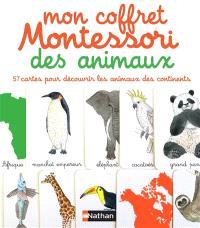 Mon coffret Montessori des animaux : 57 cartes pour découvrir les animaux des continents