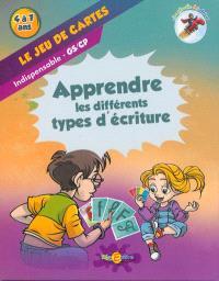 La planète des Alphas, Le jeu de cartes : apprendre les différents types d'écriture : indispensable GS, CP