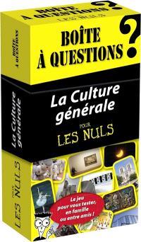 La culture générale pour les nuls : le jeu pour vous tester, en famille ou entre amis ! : boîte à questions