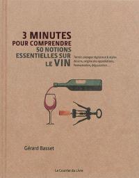 3 minutes pour comprendre 50 notions essentielles sur le vin : terroir, cépages régionaux & styles de vins, origine des appellations, fermentation, dégustation...