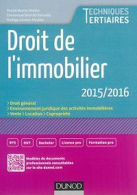 Droit de l'immobilier 2015-2016