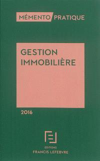Gestion immobilière 2016