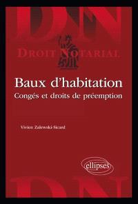 Baux d'habitation : congés et droit de préemption