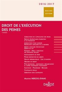 Droit de l'exécution des peines 2016-2017