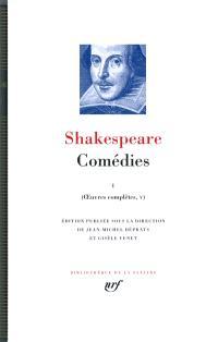 Oeuvres complètes, Volume 5, Comédies. Volume 1