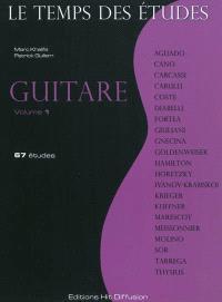 Le temps des études : guitare. Volume 1, 67 études