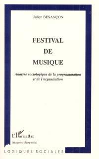 Festival de musique : analyse sociologique de la programmation et de l'organisation