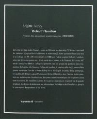 Richard Hamilton : peintre des apparences contemporaines (1950-2007)