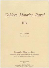 Cahiers Maurice Ravel. n° 1