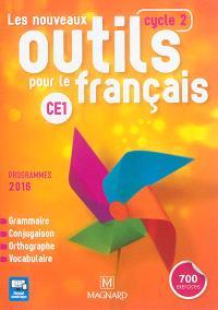 Les nouveaux outils pour le français CE1, cycle 2 : grammaire, conjugaison, orthographe, vocabulaire : programmes 2016